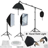 Studio Photo Equipment Softbox Light Boom Light Stand Lighting Kit Free Ship