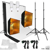 Continuous Photo Video Studio Softbox Lighting W/ Backdrop Stand Kit NEW