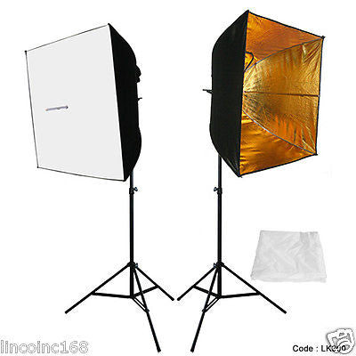 2PCS Lighting Softbox Photography Photo Equipment Soft Studio Light Tent Box Kit