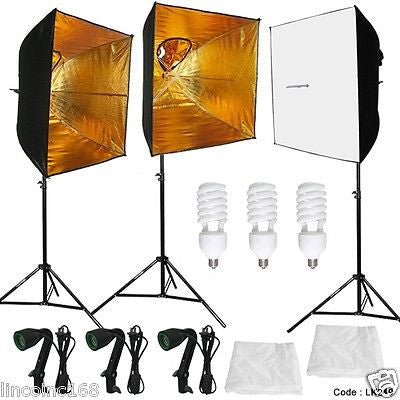 Linco Studio Photography Light Kit W/ Photo Day Light Bolb Photo Lighting LK249