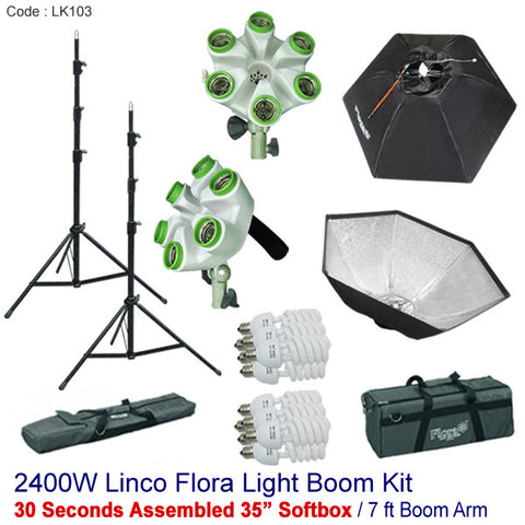 Photography Studio Video Continuous Photo Softbox Light Stand Lighting Kit LK103