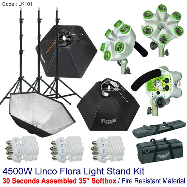4500w Photography Studio Video Continuous Photo Softbox Light Stand Lighting Kit