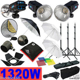 1320W Strobe Studio Flash Light Kit Lighting Photography Set CK107