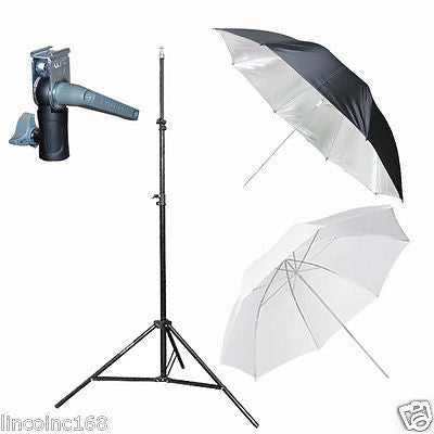 Light Stand & Flash Bracket Mount & Umbrella / Speedlite Flash Accessories Kit C