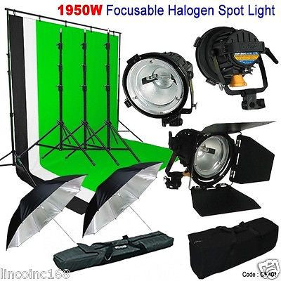 1950W Tungsten Focusable Continuous Light Video Spot Halogen Lighting CK401