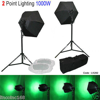 Linco 2 Softbox Stand Video Photo Lighting Photography Light Kit LK282