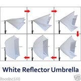 "32"" Photography White Umbrella Translucent Photo Studio Lights Lighting Kits"