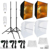 Photo Studio Video Continuous Lighting Kit Photography 2 Softbox Light Stand