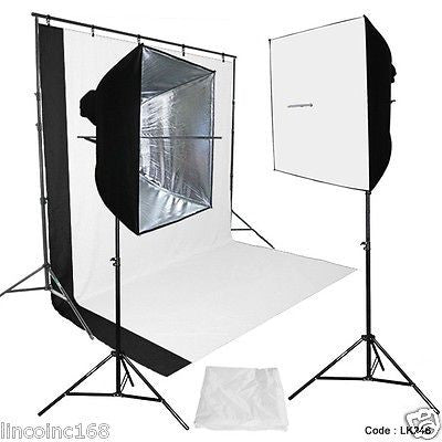 DSLR Camera Digital Photography Video Studio Photo Lighting Background Stand Kit