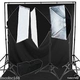 Chromakey Black Screen Lighting Kit 2400 Watt 9'×15' Backdrop Background Stand