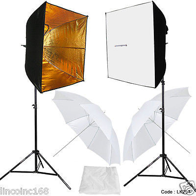 Photographic Lighting Kit W/ Photo Studio Light Bulb 2 Softbox