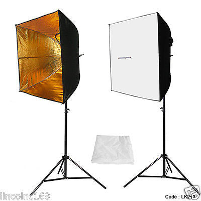 "Photography 24"" Studio Lighting Light Soft Box Photo Kit"