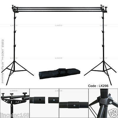 9x10 Triple Crossbar Background Support Stand Photo Studio Backdrop Stand Kit