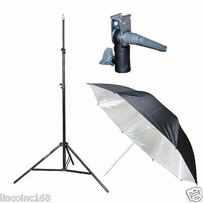 Light Stand & Flash Bracket Mount & Umbrella / Speedlite Flash Accessories Kit A