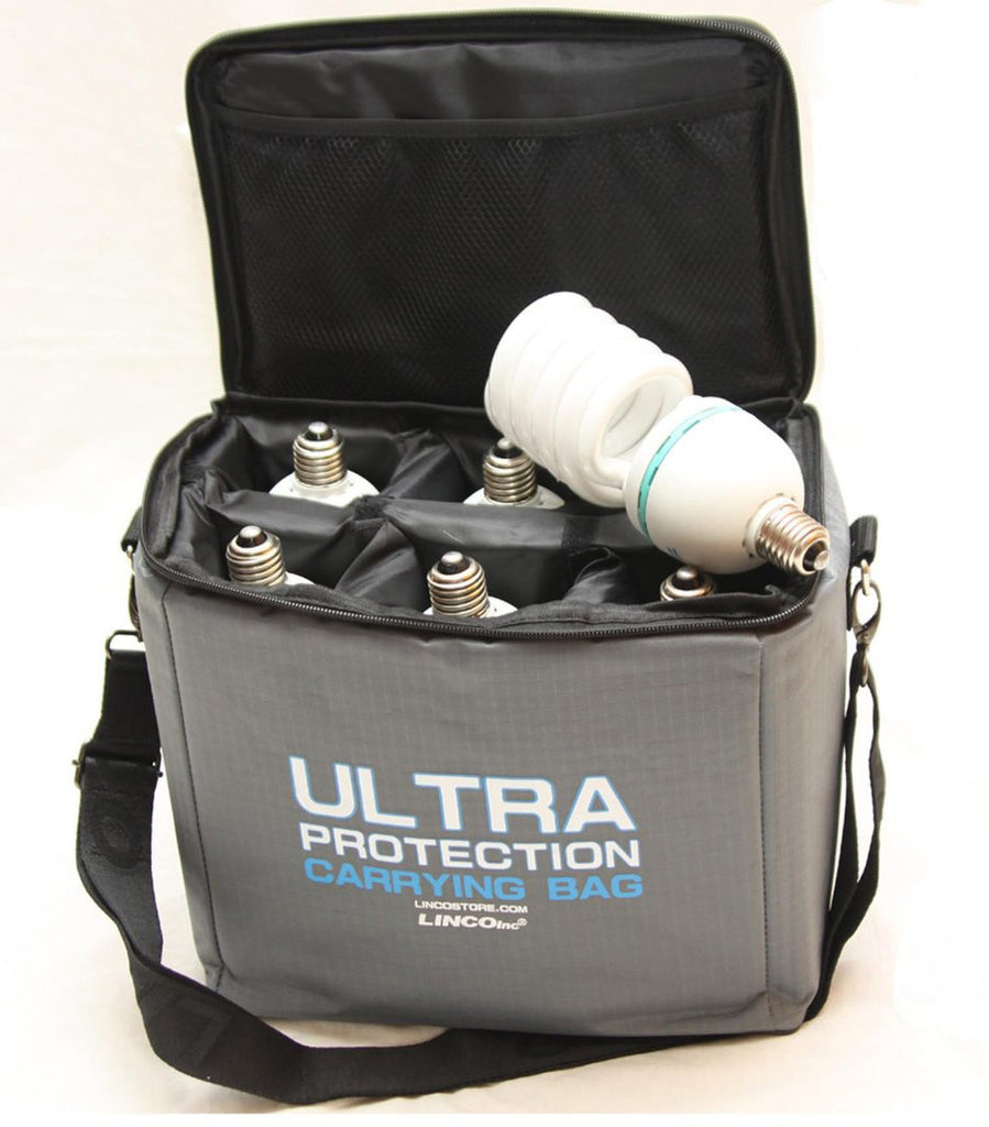 Ultra Protection Padded CFL Bulb Carrying Case with Accessory Slot and Shoulder Strap