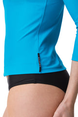 St Martin Light Blue Three Quarter Sleeve Rashguard Sun Protective Jacket UPF50