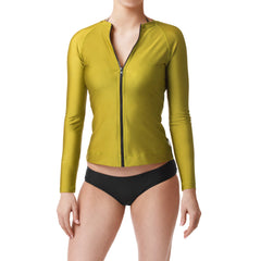 Bond Green Long Sleeve Rashguard Sun Protective Jacket UPF50