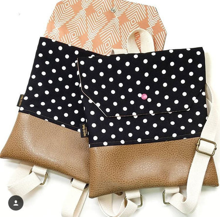 Monochrome Polka Dot Backpack