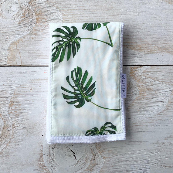 Monstera Burp Cloth
