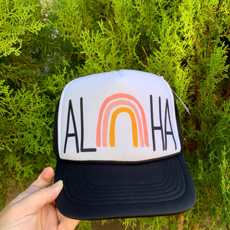 Rainbow Toddler Trucker Hat