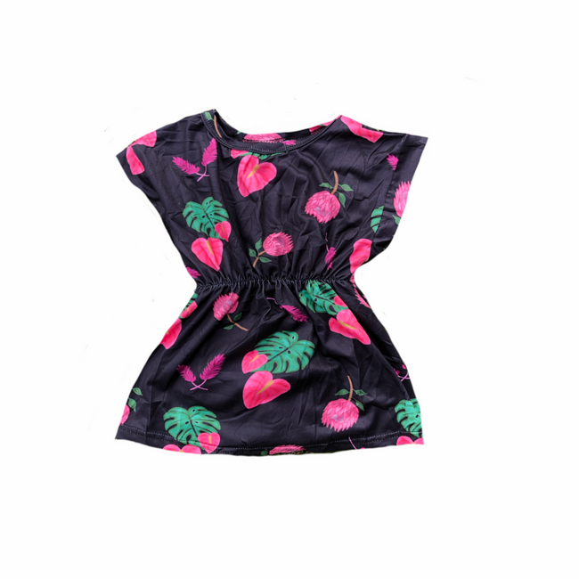 Tropical Flowers Keiki Doll Dress