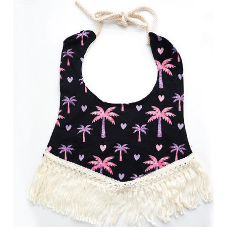 Glitter Palm Tree Bib