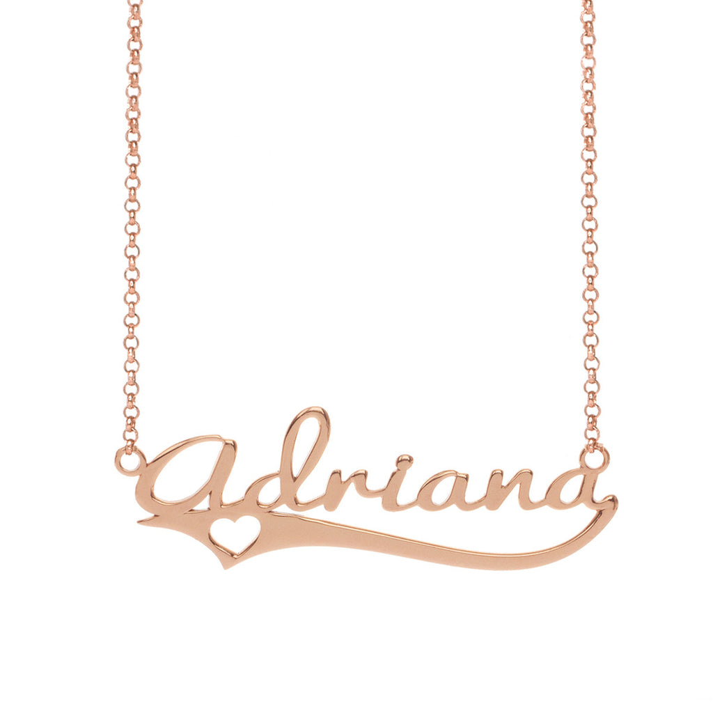 initial rose b letter de personalized gold necklace cursive lowercase media di