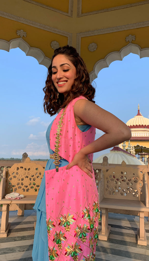 Yami Gautam : Draped Jumpsuit with Jacket