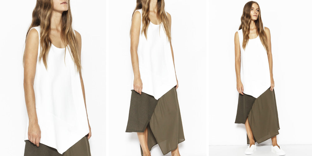 Sabatini Asymmetric Rib Panel Top
