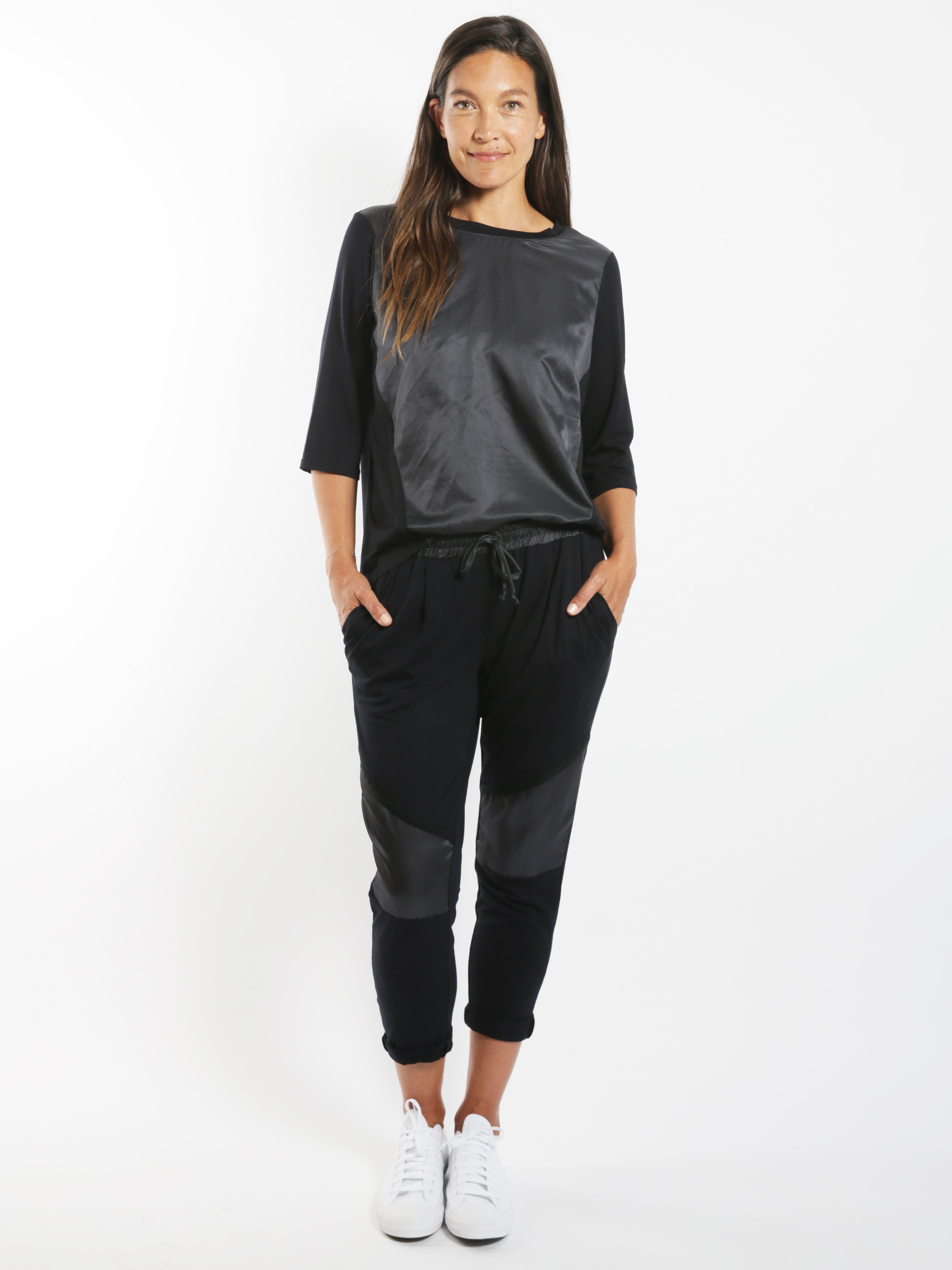 Sheen Front Panelled Pants