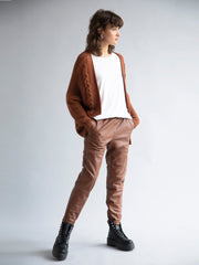 Full Genuine Leather Track Pants