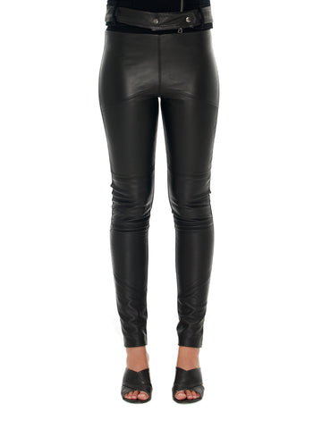 Leather Front Paneled Pant (NEW COLOURS)