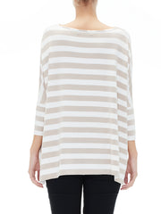 Stripe Oversized Batwing Top