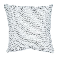 White Slub Knit Square Cushion