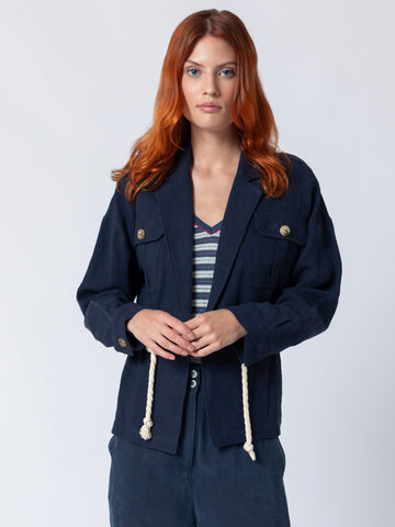 Nautical Jacket With Ties