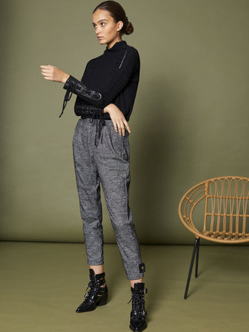 Houndstooth Knit Pants