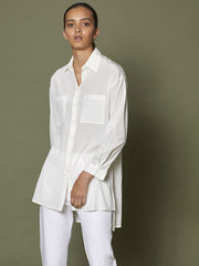 Classic Two Pocket Silk Shirt