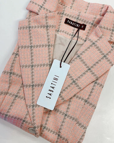 Summer Houndstooth Knit Blazer (NEW COLOURS)