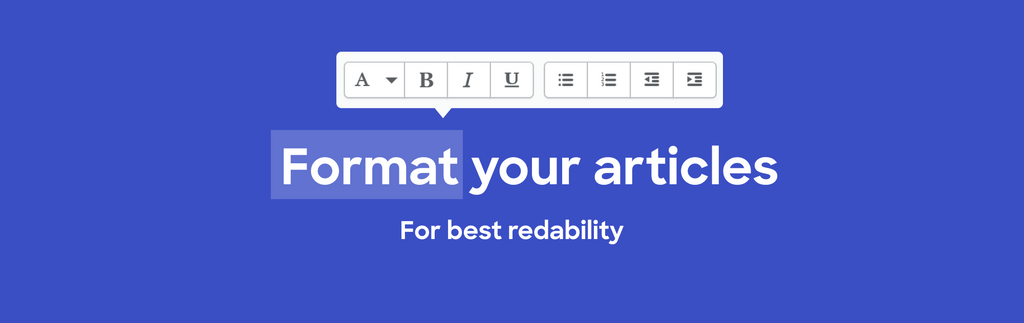 Format your articles