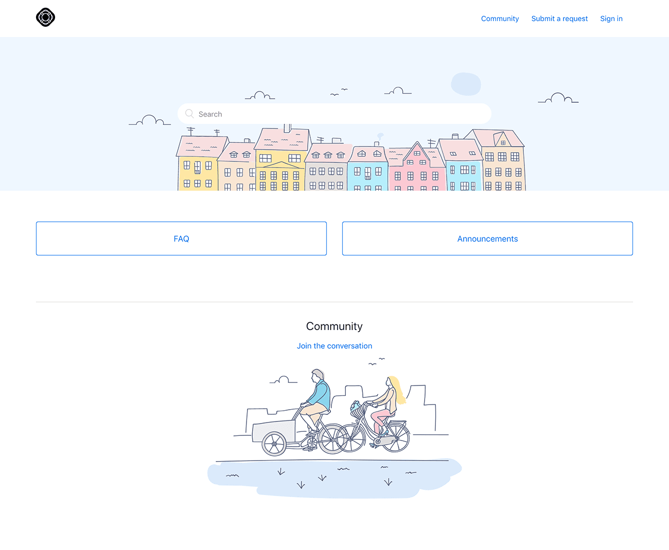 Copenhagen theme from Zendesk