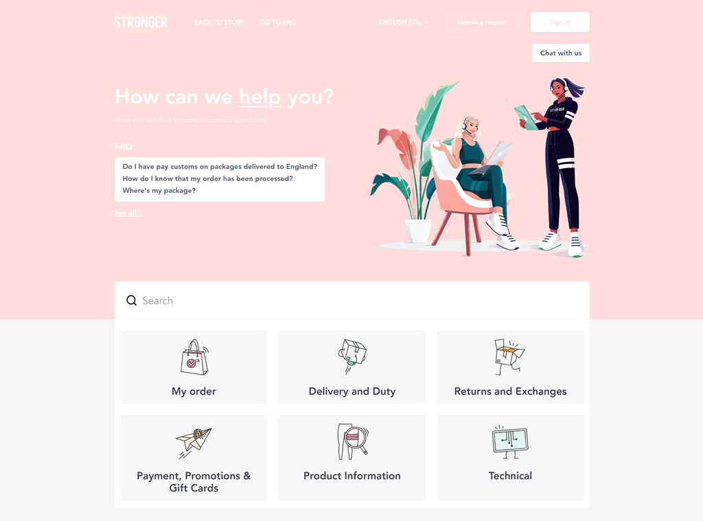 customized-Zendesk-help-center-for-Stronger-by-Lotus-Themes