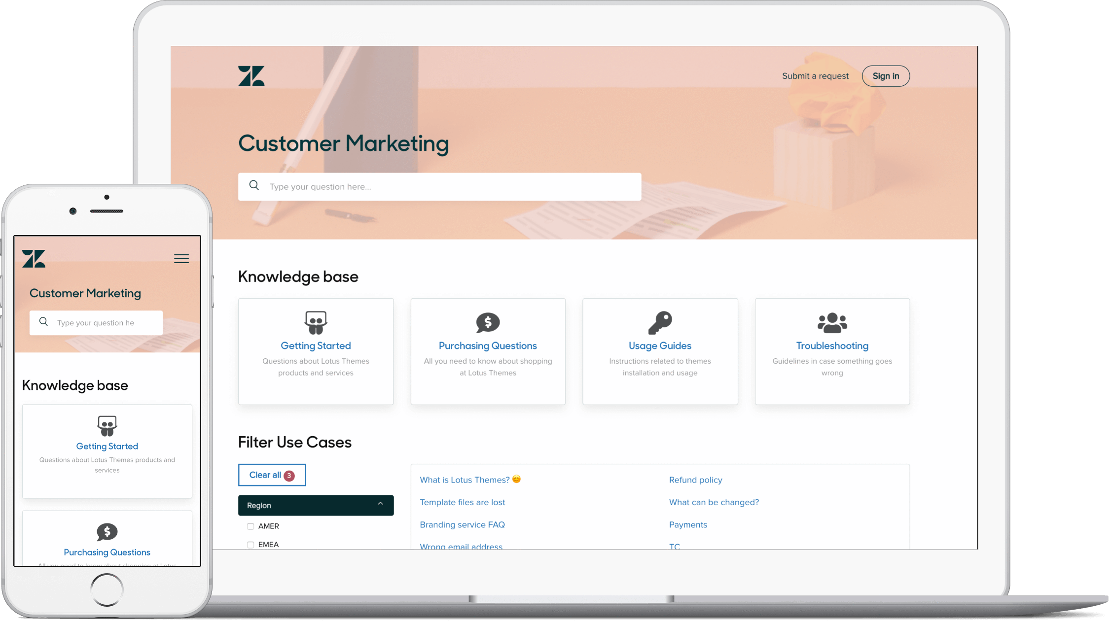 Zendesk help center customization