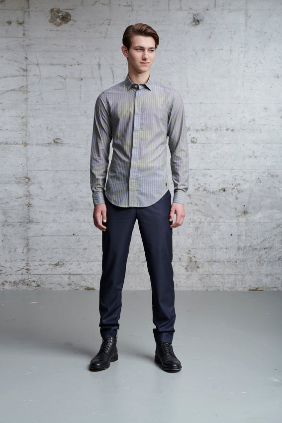 ssfw 155: slim fit shirt made from 100% finest italian cotton
