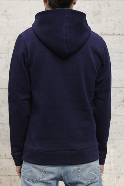 "nwm 15.2: ""no where man"" ton sur ton embroidered on a hoody made from 100% brushed cotton"