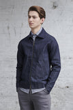 raw denim jacket made from organic cotton