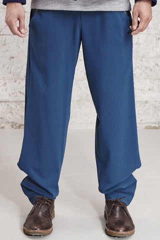 ssfw 153 a, relaxed fit woolen trousers