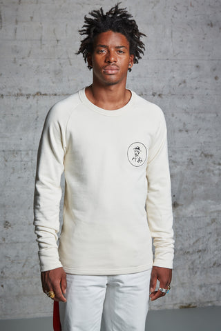 nwm 15.4 crew neck sweater with an embroidered portrait made from 100% organic cotton