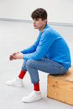 colour block spicy red: qnoop, organic socks that stay a pair