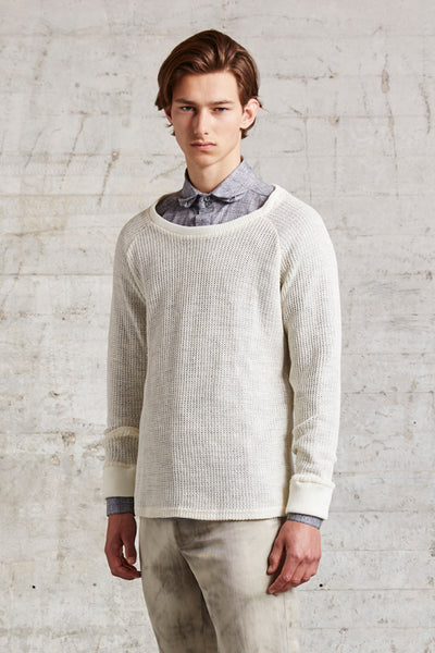 crewneck knitted sweater with 2x2 rib finishing, ssfw 151 b