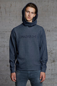organic oversized hooded sweater with ton sur ton embroidery, nwm 15.8